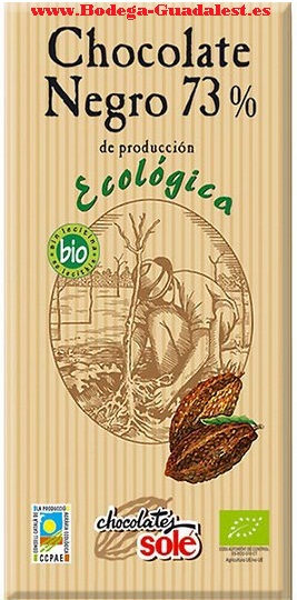 Black organic chocolate 73% Cocoa